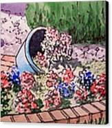 Flower Bed Sketchbook Project Down My Street Canvas Print by Irina Sztukowski