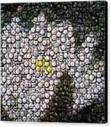 Flower Bottle Cap Mosaic Canvas Print by Paul Van Scott