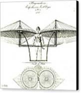 Flugmaschine 1807 Canvas Print by Padre Art