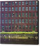 Fly Fishing Lawrence Canal Canvas Print by Jan Faul