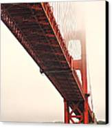 Fog Lifting At The Golden Gate Canvas Print by Cheryl Young
