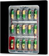 Foil Pack Of Prozac Pills Canvas Print by Damien Lovegrove