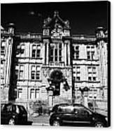 Former Kilmarnock Technical School And Academy Building Now Academy Apartments Scotland Uk Canvas Print by Joe Fox