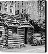 fort nashborough stockade recreation Nashville Tennessee USA Canvas Print by Joe Fox