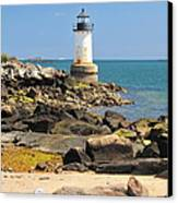 Fort Pickering Lighthouse Canvas Print by Catherine Reusch  Daley