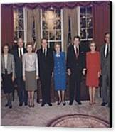 Four Presidents And Five First Ladies Canvas Print by Everett