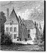France: Wine Ch�teau, 1868 Canvas Print by Granger