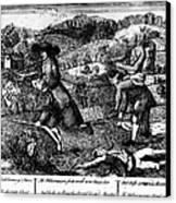 Franklin: Cartoon, 1764 Canvas Print by Granger