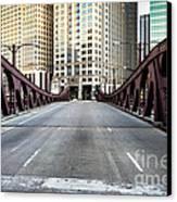 Franklin Orleans Street Bridge Chicago Loop Canvas Print by Paul Velgos