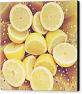 Fresh Lemons Canvas Print by Amy Tyler
