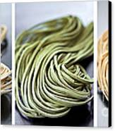 Fresh Tagliolini Pasta Canvas Print by Elena Elisseeva