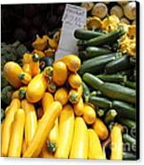 Fresh Zucchinis And Artichokes - 5d17817 Canvas Print by Wingsdomain Art and Photography