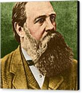 Friedrich Engels, Father Of Communism Canvas Print by Photo Researchers
