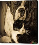 Friendship Is The Greatest Gift Of All Greeting Canvas Print by DigiArt Diaries by Vicky B Fuller