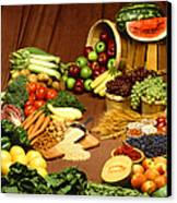 Fruit And Grain Food Group Canvas Print by Photo Researchers