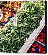 Fruit And Vegetable Stand Canvas Print by Jeremy Woodhouse
