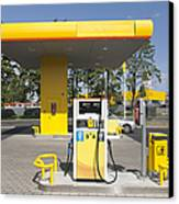 Fuel Pump At A Gas Station Canvas Print by Jaak Nilson