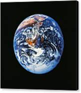 Full Earth From Space Canvas Print by Stocktrek Images
