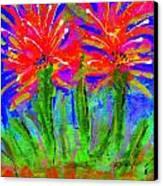 Funky Flower Towers Canvas Print by Angela L Walker