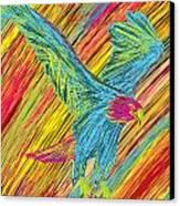 Furious Bold Bald Eagle Canvas Print by Kenal Louis