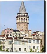 Galata Tower In Istanbul Canvas Print by Artur Bogacki