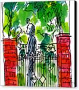 Garden Philadelphia Canvas Print by Marilyn MacGregor
