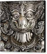 Garuda Silver Canvas Print by Panupong Roopyai