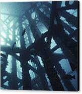 Gas Platform Support Tower Canvas Print by Peter Scoones