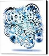Gears Wheels Design  Canvas Print by Setsiri Silapasuwanchai