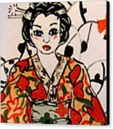 Geisha In Training Canvas Print by Patricia Lazar