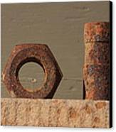 Geometry In Rust Canvas Print by Cynthia Cox Cottam