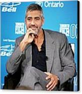 George Clooney At The Press Conference Canvas Print by Everett