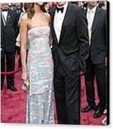 George Clooney, Sarah Larson Wearing Canvas Print by Everett