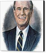 George H.w. Bush (1924-    ) Canvas Print by Granger