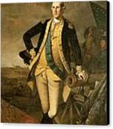 George Washington At Princeton Canvas Print by Charles Wilson Peale