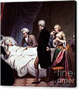 George Washington On His Death Bed Canvas Print by Photo Researchers