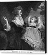 Georgiana, Duchess Of Devonshire Canvas Print by Miriam And Ira D. Wallach Division Of Art, Prints And Photographsnew York Public Library