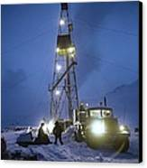 Geothermal Power Station Drilling Canvas Print by Ria Novosti