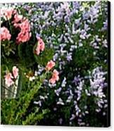 Geranium And Lilac Painting Canvas Print by Will Borden