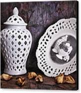 Ginger Jar And Compote Still Life Canvas Print by Tom Mc Nemar