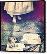 Girl In Abandoned Room Canvas Print by Jill Battaglia