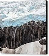 Glacial Edge Waterfall Canvas Print by Mike Reid