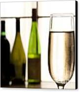 Glass Of Champagne Canvas Print by Charlotte Lake