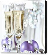 Glasses Of Champagne Canvas Print by Amanda And Christopher Elwell