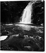 Gleno Or Glenoe Waterfall County Antrim Northern Ireland Uk Canvas Print by Joe Fox