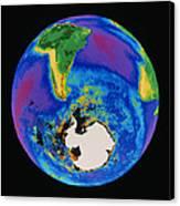 Global Biosphere, Southern Hemisphere, From Space Canvas Print by Gene Feldman, Nasa Gsfc