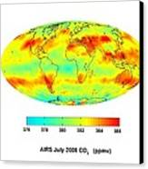 Global Carbon Dioxide Transport, 2008 Canvas Print by Nasajpl