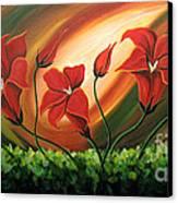 Glowing Flowers 4 Canvas Print by Uma Devi
