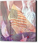 God Bless The Usa Canvas Print by Cheryl Young