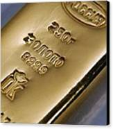 Gold Bullion Canvas Print by Ria Novosti
